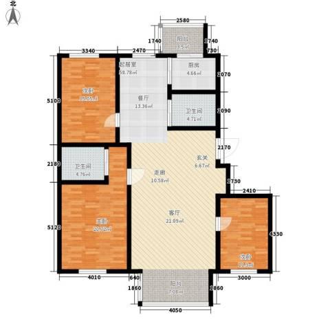 大众花园四期3室0厅2卫1厨123.47㎡户型图