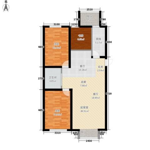 大众花园四期3室0厅1卫1厨96.00㎡户型图
