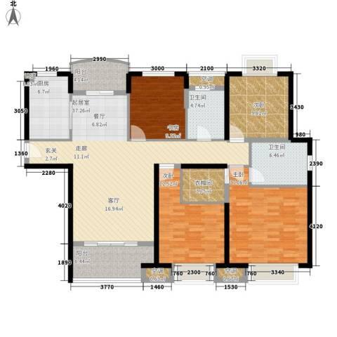 农房澜山4室0厅2卫1厨138.00㎡户型图
