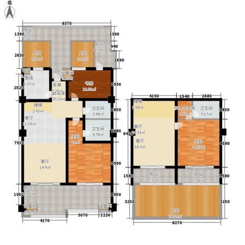 中信太湖城3室1厅3卫1厨245.00㎡户型图