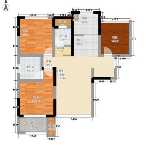 佛奥康桥水岸3室0厅2卫1厨95.00㎡户型图