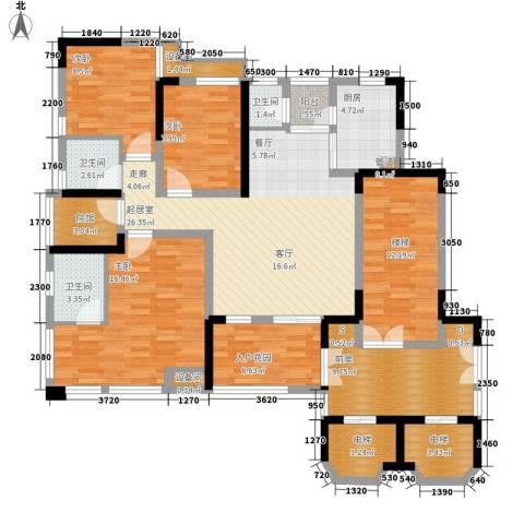 南方书苑湖畔3室0厅3卫1厨114.15㎡户型图