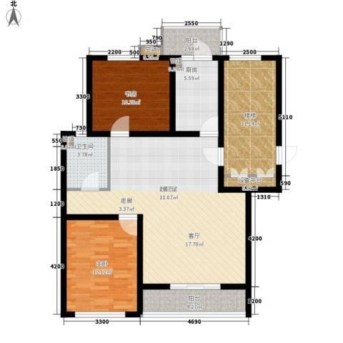 燕宇艺术家园2室0厅1卫1厨120.00㎡户型图