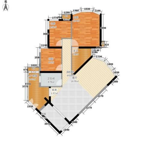 塞纳森晴3室0厅1卫1厨116.00㎡户型图