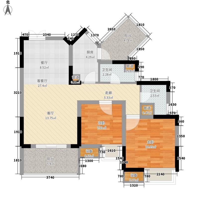 首创鸿恩国际生活区76.00㎡一期面积7600m户型