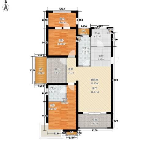 富立·秦皇半岛2室0厅2卫1厨118.00㎡户型图
