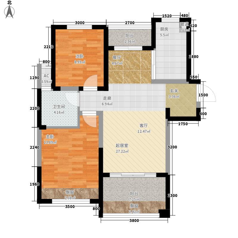 绿地镜湖世纪城95.26㎡19#楼高层G4户型