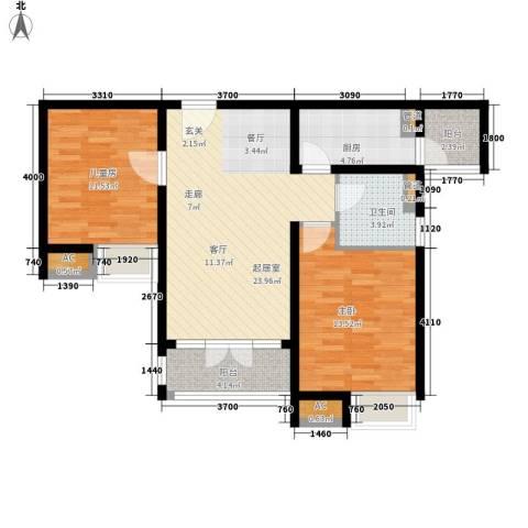 碧桂园滨海城2室0厅1卫1厨95.00㎡户型图