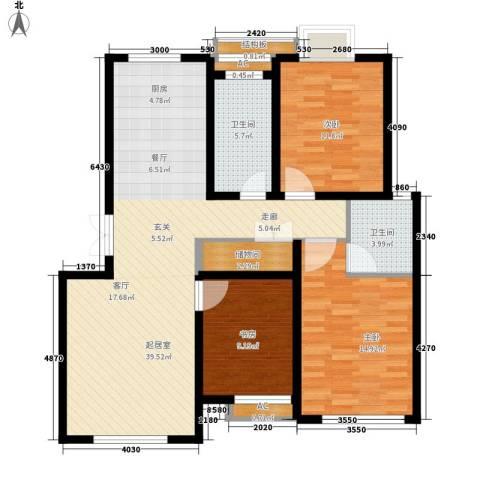 印象生活广场3室0厅2卫0厨104.00㎡户型图