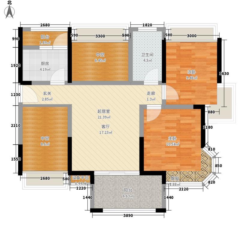 大东城80.99㎡1号楼B座C型户型2室1厅