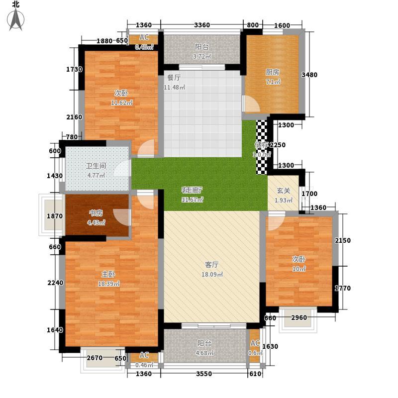 天澜湾125.76㎡26#楼标准层两侧A户型