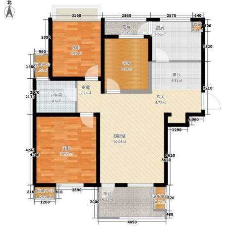 书香苑(东环路)3室0厅1卫1厨100.00㎡户型图