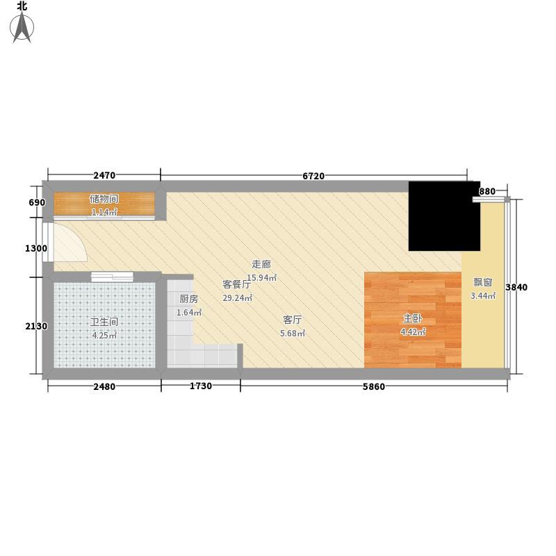 英利国际广场37.52㎡一期2号楼标面积3752m户型