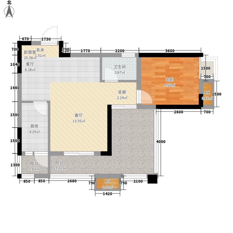 宗申青年国际56.06㎡一期22号楼标准层C4户型
