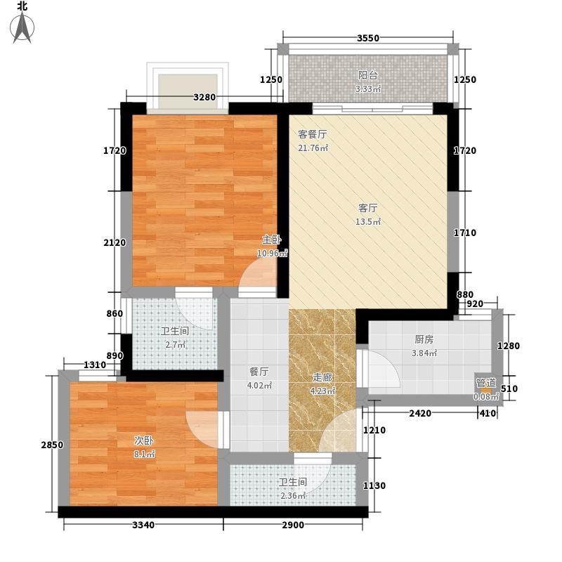 百康年世纪门63.72㎡A栋07号房面积6372m户型