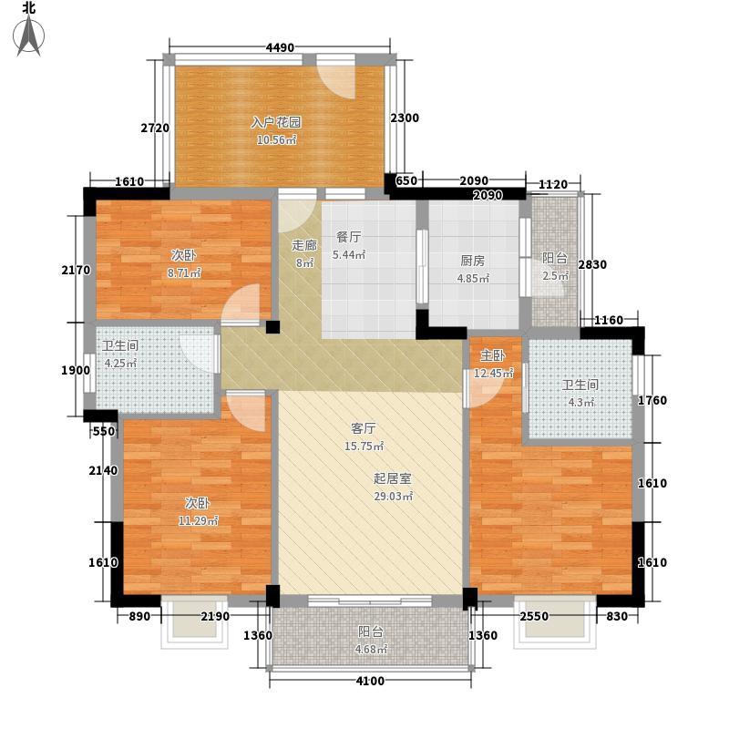 南国明珠三期125.31㎡三期3栋G1户面积12531m户型