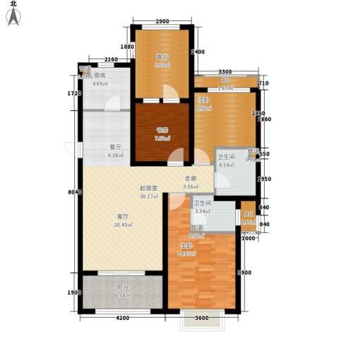 富立·秦皇半岛3室0厅2卫1厨125.00㎡户型图