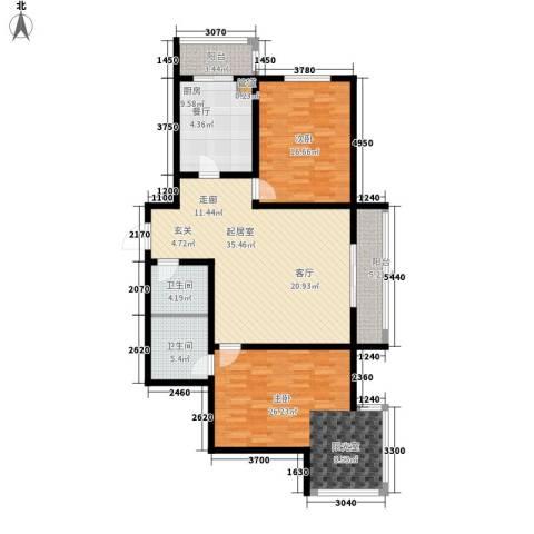 水映兰庭2室0厅2卫1厨122.00㎡户型图