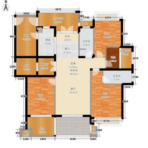 勤业镜悦府4室0厅2卫1厨171.27㎡户型图