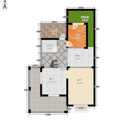 香江帝景1室1厅1卫1厨210.00㎡户型图