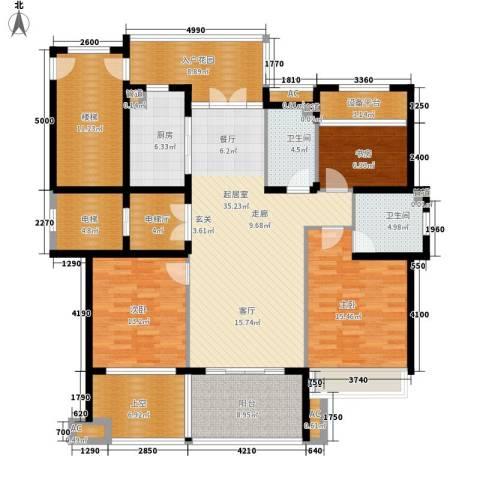 勤业镜悦府3室0厅2卫1厨158.09㎡户型图