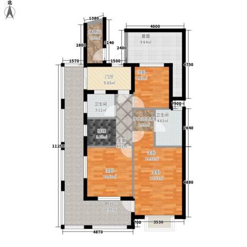 香江帝景3室0厅2卫0厨210.00㎡户型图