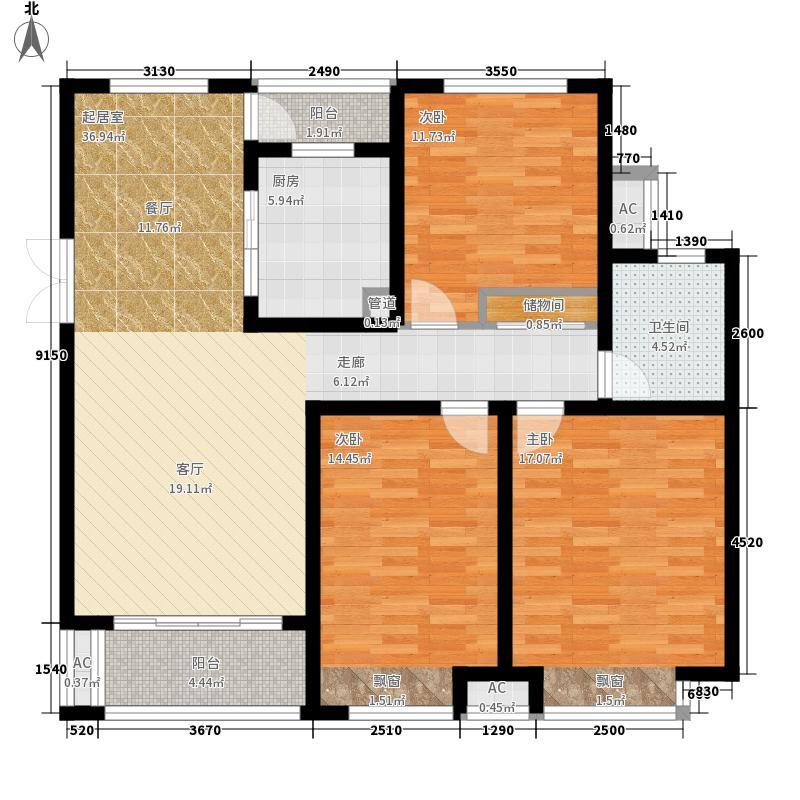 绿地镜湖世纪城115.28㎡一期高层2#、3#、6#、7#、10#-13#楼E1户型