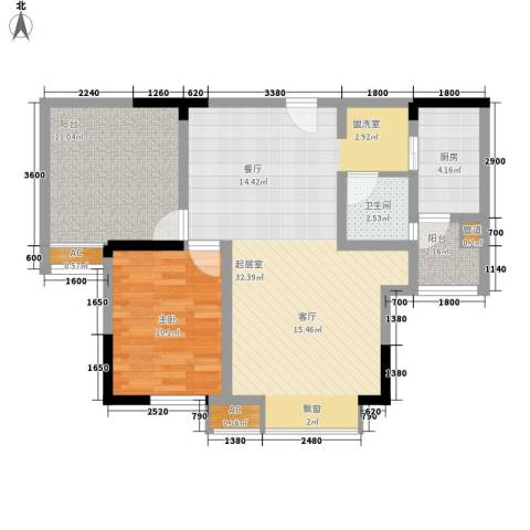 御廷上郡1室0厅1卫1厨74.00㎡户型图