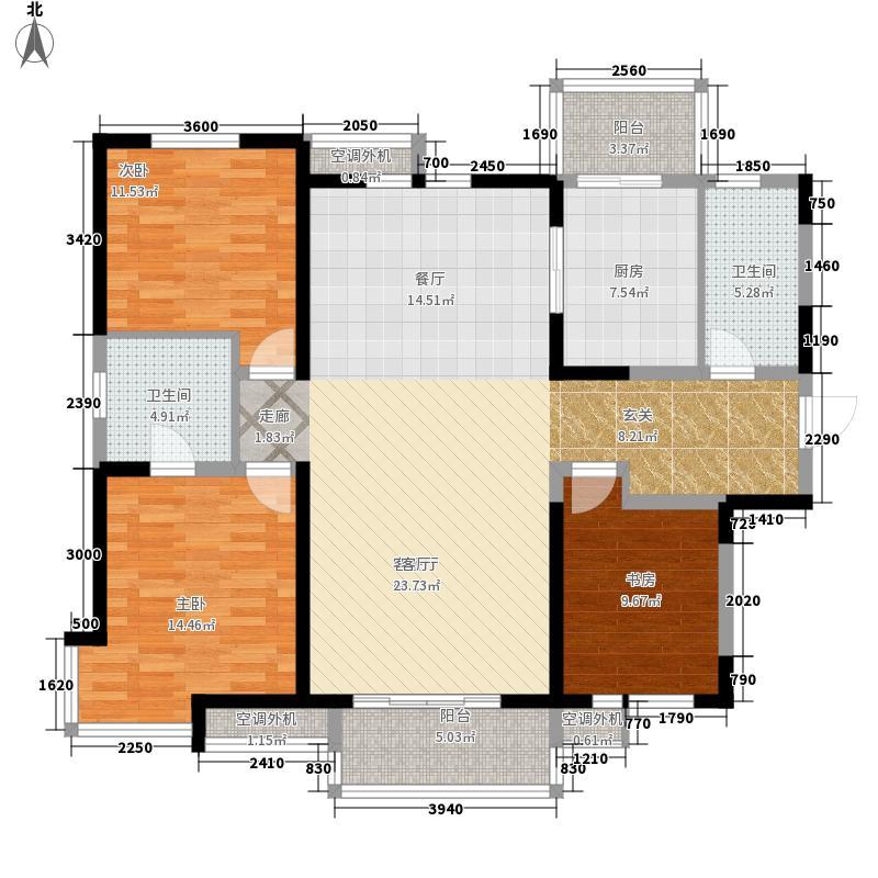 柴楼新庄园162.00㎡高层标准层C/4户型