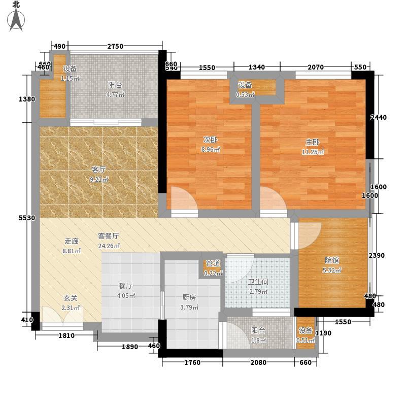 财信城市国际65.87㎡一期5号楼标面积6587m户型