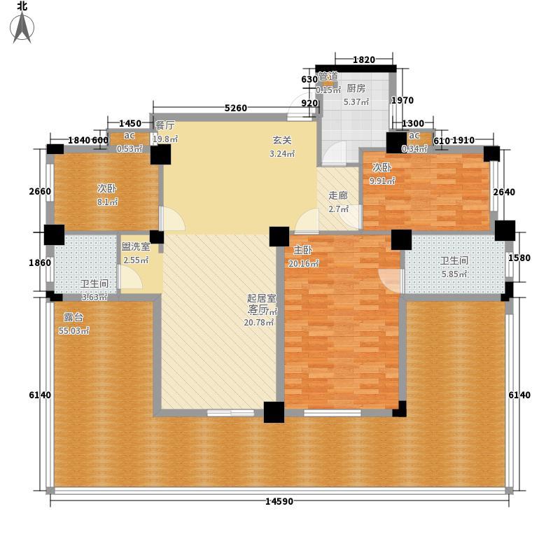 中恒云天国际花园135.03㎡11#楼F面积13503m户型
