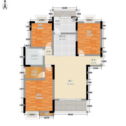 益阳世纪嘉苑3室0厅1卫1厨131.00㎡户型图