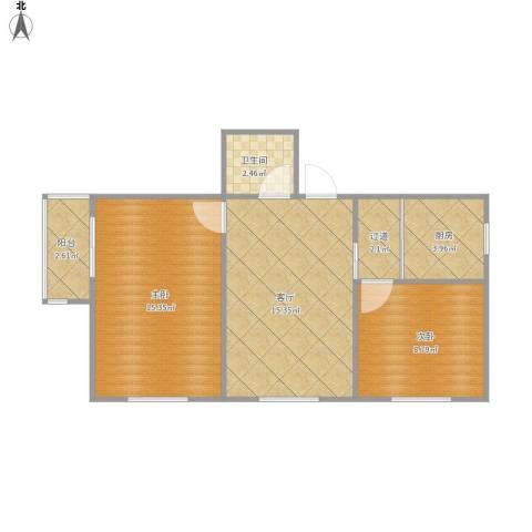 德胜里一区12--2072室1厅1卫1厨69.00㎡户型图