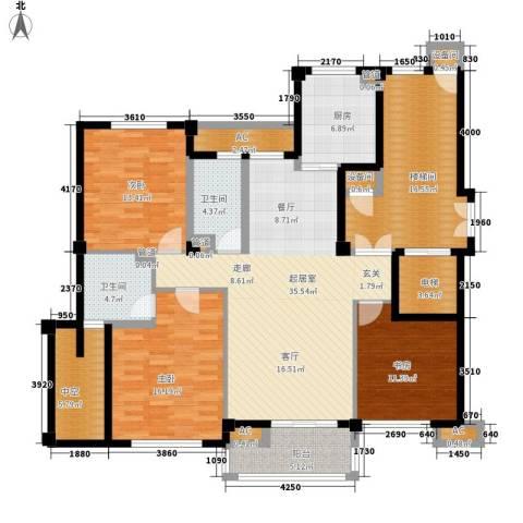 南岸花园东区3室0厅2卫1厨186.00㎡户型图