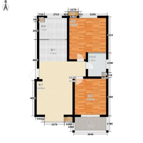 鲁港新村2室0厅1卫1厨125.00㎡户型图