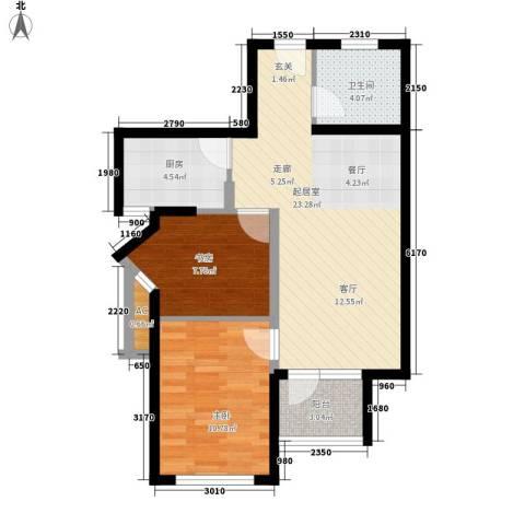 金桥澎湖山庄2室0厅1卫1厨79.00㎡户型图