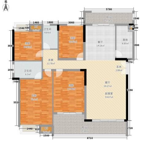 鹏基万林湖生态美墅4室0厅2卫1厨175.78㎡户型图