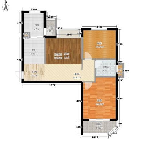 金桥澎湖湾2室0厅1卫1厨85.00㎡户型图