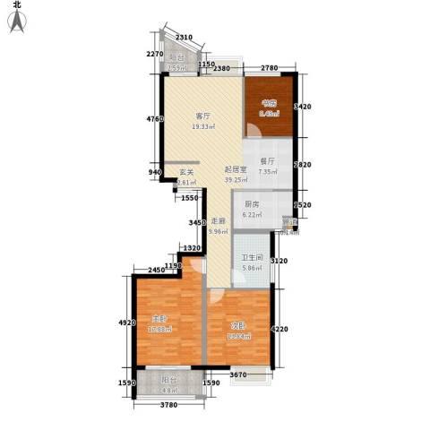 金桥澎湖湾3室0厅1卫1厨112.00㎡户型图