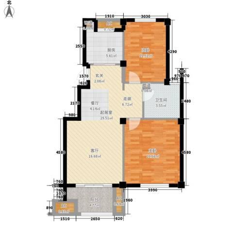 南岸花园东区2室0厅1卫1厨94.00㎡户型图