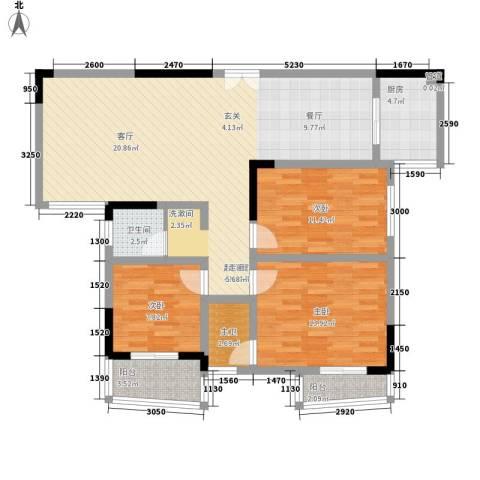 益阳世纪嘉苑3室0厅1卫1厨132.00㎡户型图