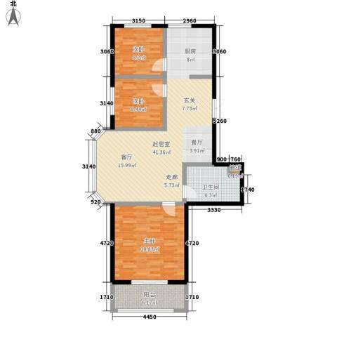 锦绣豪庭3室0厅1卫0厨128.00㎡户型图