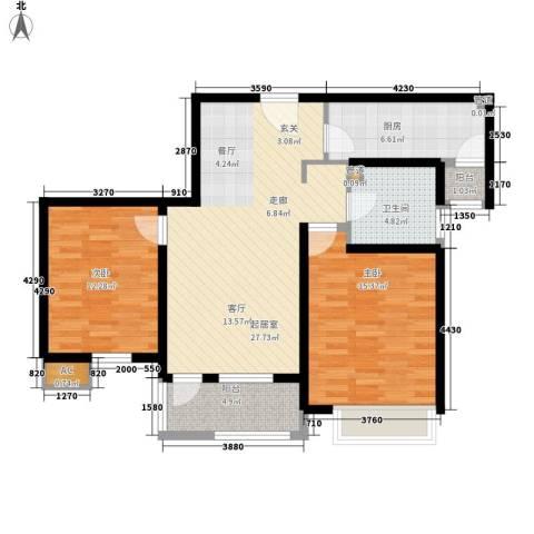 亿城新天地二期2室0厅1卫1厨85.00㎡户型图