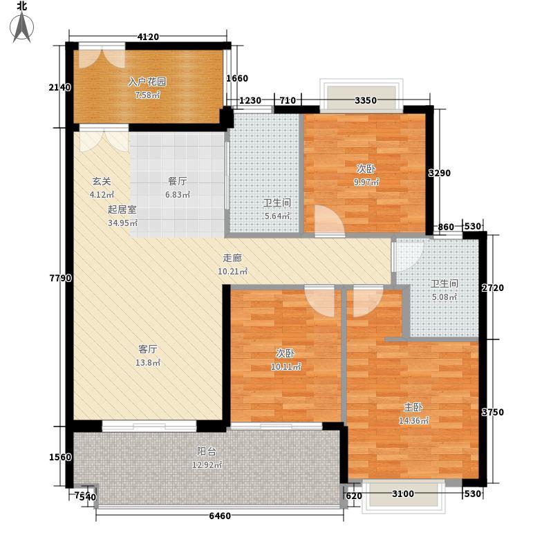 滨海珺城111.00㎡单元户型3室2厅