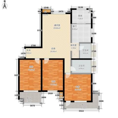 海悦名门3室0厅2卫1厨164.00㎡户型图