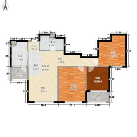 双子星城市广场3室0厅1卫1厨120.00㎡户型图