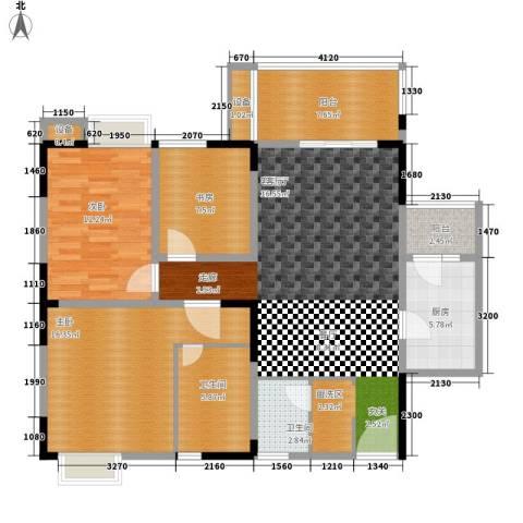 欣宇都市港湾3室1厅2卫1厨110.00㎡户型图