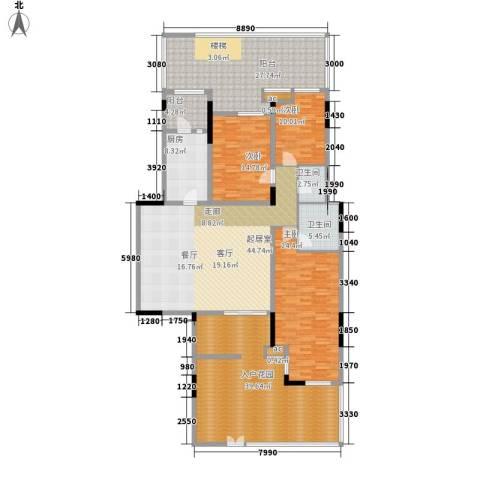 泽科港城国际锦云香缇3室0厅2卫1厨183.11㎡户型图