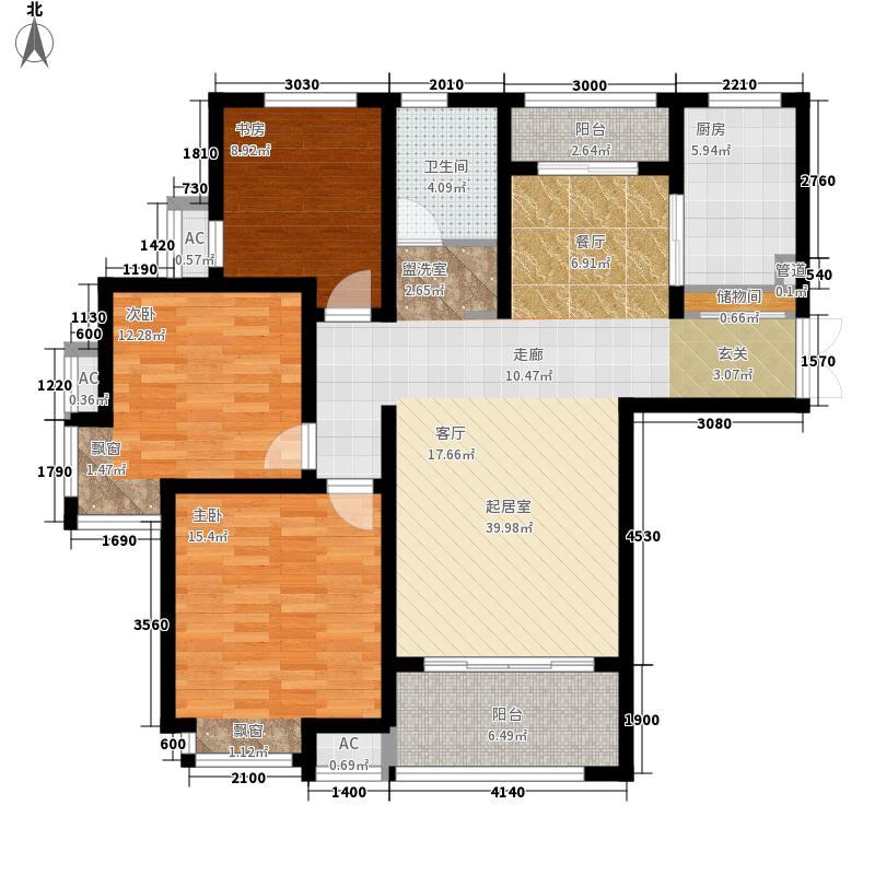 绿地镜湖世纪城114.31㎡一期高层2#、3#、6#、7#、10#-13#楼E3户型