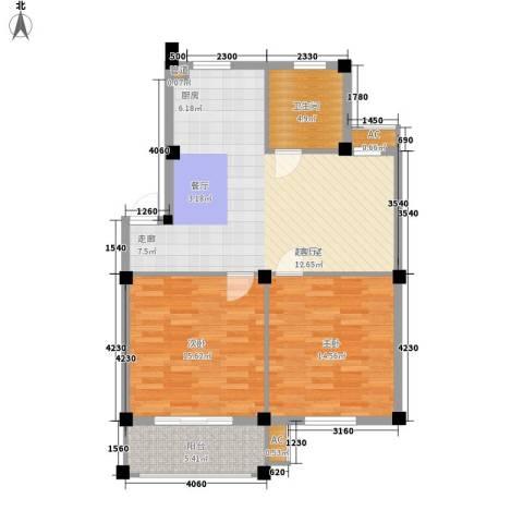 岑港新司前街12幢13幢2室0厅1卫0厨85.00㎡户型图